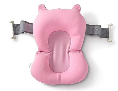 Cojín para Tina Papubaby para Baño del Bebé Antideslizante (Rosa)