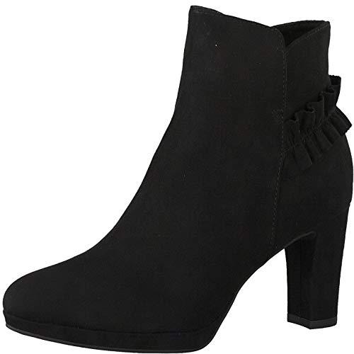 Tamaris Damen Stiefeletten, Frauen Ankle Boots, reißverschluss weiblich Lady Ladies Women's Women Woman Abend elegant Feier,Black,41 EU / 7.5 UK
