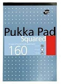 3 X A4 5mm Squared Ruled Pads 80GSM 160 Pages (6 Pack)