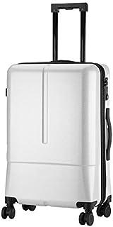 Luggage Trolley Case24 Inch Fashion Zipper Glossy Men's Suitcase Trolley Universal Wheel Personality,F,24inch