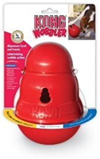KONG Wobbler Toy Feeder Treat & Food Dispensing Dog & Puppy Puzzle Toy Size:Small Pack of 2