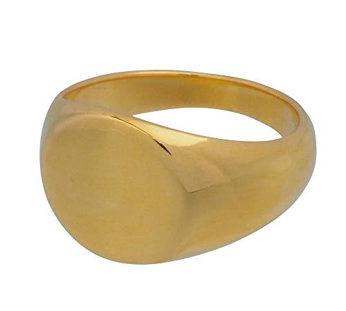 aBALENT(アバレント)印台リング シルバー 印台 リング 24金 k24 24k ゴールドコーティング シンプル メンズ 指輪 シルバー925 ピンキーリング メンズ (11)