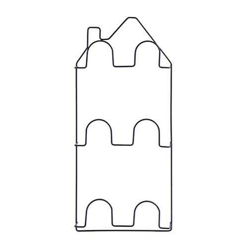 ZXL Zapatero Montado en la Pared Pasta Baño Zapatillas Estantería Pared de la casa Rack de Almacenamiento de Zapatos estéreo Multicapa (Dos Paquetes) (Color: Negro)