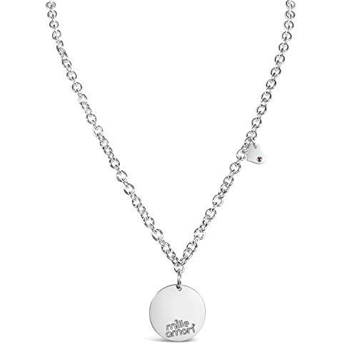 Mille Amori – Collar para mujer de plata maciza 925 de ley...