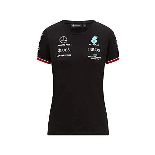 Mercedes-AMG Petronas - Offizielle Formel 1 Merchandise 2021 Kollektion - Damen - Driver Tee - Kurze Ärmel - Schwarz - M