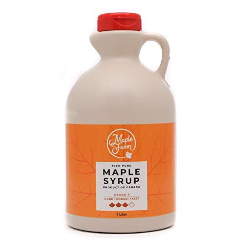 MapleFarm - Puro sciroppo d'acero Canadese. Grado A, Dark - 1 Litro - Pure maple syrup - sciroppo per pancake - sciroppo per wa