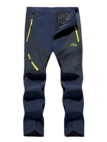 weiwei Uomo Pantaloni da Trekking Convertibili Leggeri Traspiranti Pantaloni Stretch Zip off Primavera Estate Sottile Allaperto Alpinismo Escursionismo Calzoni