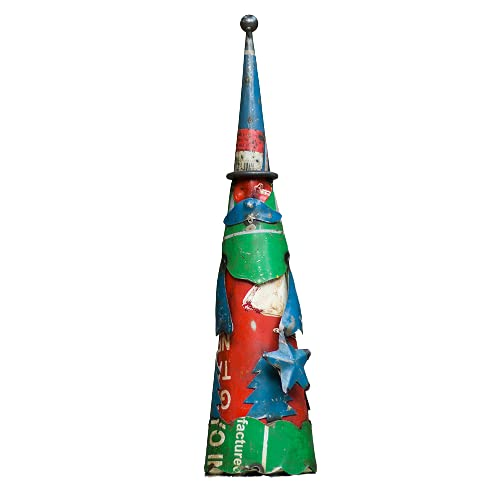 De Kulture™ Recycled Iron Figure Christmas Santa Claus Showpiece 3x12 (DH) For Home Decoration Christmas Decoration(Multicolour)