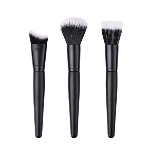 Posional Pinceaux de Maquillage Ensemble, 3PCS Set/Kit Sourcils Eyeliner Anticernes Premium Coloré Maquillage Kit de Toilette pour Fusion de Fond de Teint Concealer Yeux