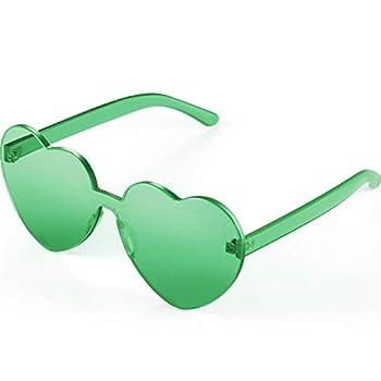Maxdot Heart Shape Sunglasses Party Sunglasses  Green
