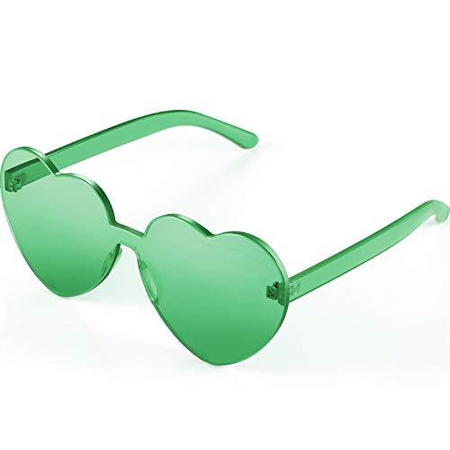 Maxdot Heart Shape Sunglasses Party Sunglasses (Green)