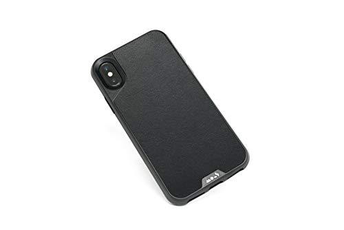 Mous - Funda para iPhone XS MAX - Limitless 2.0 - Cuero Negro - Protector de Pantalla Incluido