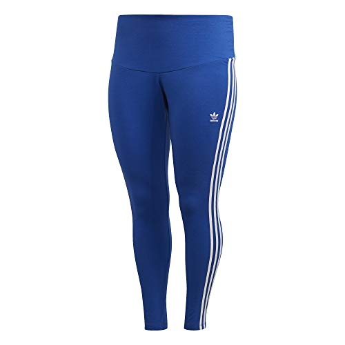 adidas 3 STR Tight, Leggings Sportivi Donna, Team Royal Blue/White, 1X