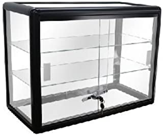front locking glass display cases