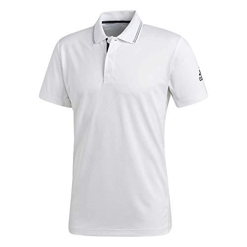 adidas - Tennis-Poloshirts für Herren in weiß, Größe S