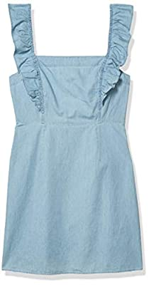 Jack by BB Dakota Women's Chambray All Day Dress with Flutter Straps, 10