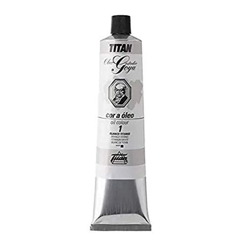 Colores Blancos Óleo Goya Titan - Tubo 200 mL, 1-Blanco Titanio