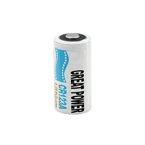 HOBBIX BateríAs 3v 1300mah CR123A LiMnO2, Uso para Reproductor De Video De Radio De CáMara con Linterna Led 1pcs