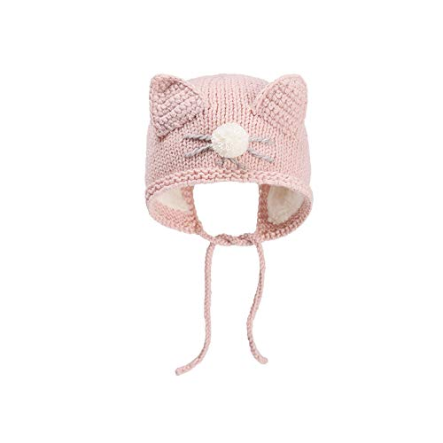 wopiaol Sombrero de bebé otoño e Invierno Tejido a Mano cálido bebé Lindo Lindo Sombrero de Punto recién Nacido protección para los oídos Sombrero de Lana