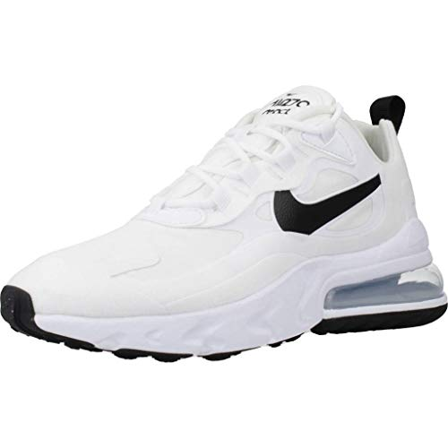 Nike W Air MAX 270 React, Zapatillas para Correr Mujer, Multicolore White Black Mtlc Silver, 40 EU