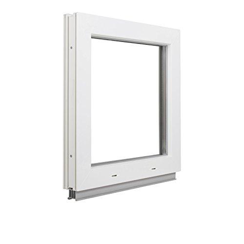 BxH: 65x55 cm DIN links 3-fach-Verglasung wei/ß schneller Versand Kellerfenster Fenster 60mm Profil Kunststoff verschiedene Ma/ße