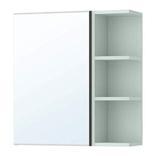 IKEA Lillangen Spiegelschrank 1 Tür / 1 Endgerät Schwarz-Braun Hellgrün 591.883.78