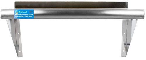 "12"" X 36"" Stainless Steel Wall Shelf | NSF Certified | Appliance & Equipment Metal Shelving | Kitchen, Restaurant, Garage, Laundry, Utility Room Photo #2"