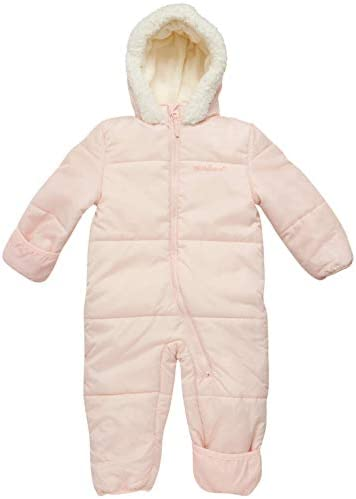 Pink Platinum Baby Girls One Piece Puffer Winter Snowsuit with Hood Newborn Infant product image