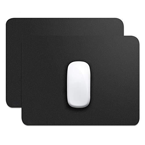 Ofidosel Pad / Set de Tapetes para Mouse. Alfombrilla / Cojín para Ratón Láser y Óptico. Base Antideslizante para un Uso Firme. Excelente para Oficina, Escuela o Gaming. (Negro, 2 Piezas)
