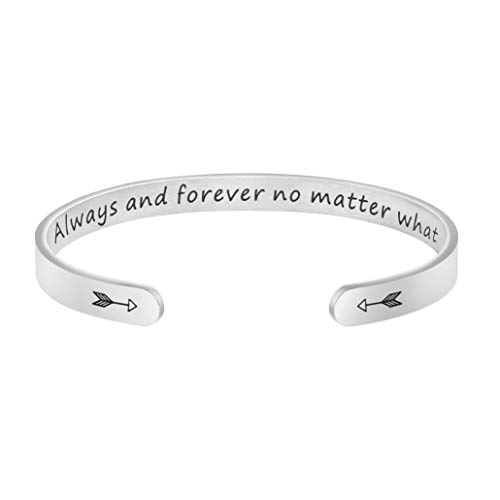 Long Distance Best Friend Jewelry Anniversary Gift for Lover Girlfriend Always and Forever No Matter What Bracelet