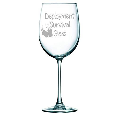 C M Deployment Survival Wine Glass
