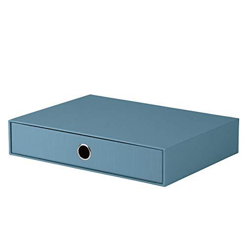 Rössler 1524452150 - S.O.H.O. Schubladenbox für DIN A4, mit Griffloch, Denim