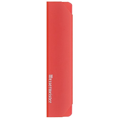 Messermeister Chef's Knife Edge Guard, 8 Inch, Translucent Red