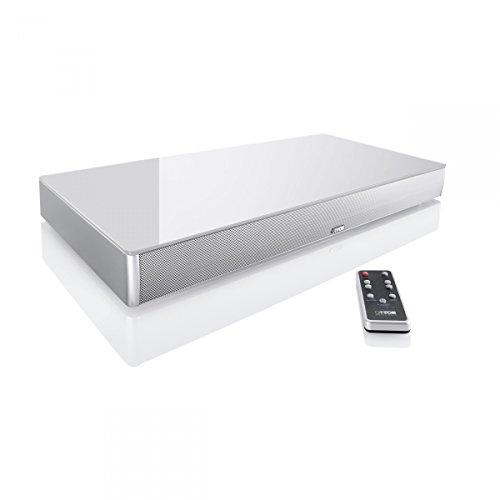 Canton 03562 DM-75 Lack seidenmatt Soundbar mit Glasplatte Silber