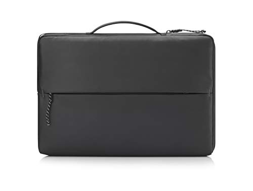 HP PC Sport Sleeve for Notebooks up to 14', Padded PC Compartment, Reflective Details, Organizer Pockets, Waterproof and Robust Fabric, Black