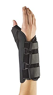 """FitPro Adjustable 8"""" Wrist and Thumb Spica Brace-Right, Amazon Exclusive Brand"""