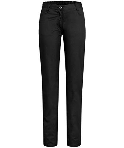 GREIFF Five Pocket Cuisine Basic 5319 Pantalon pour femme Coupe normale - Noir - W42