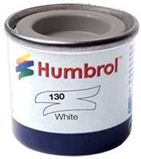 Best Price Square Enamel Paint, 14ML, NO130 White Satin AA1434 by HUMBROL