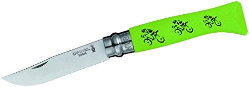 Opinel Uni Messer Tour De France, Stahl Sandvik 12c27 12C27-rostfrei-Buchenholzgriff-Lackierung grünes Trikot, Mehrfarbig, Einheitsgröße