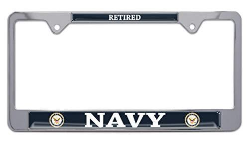 Elektroplate U.S. Navy Retired Color License Plate Frame
