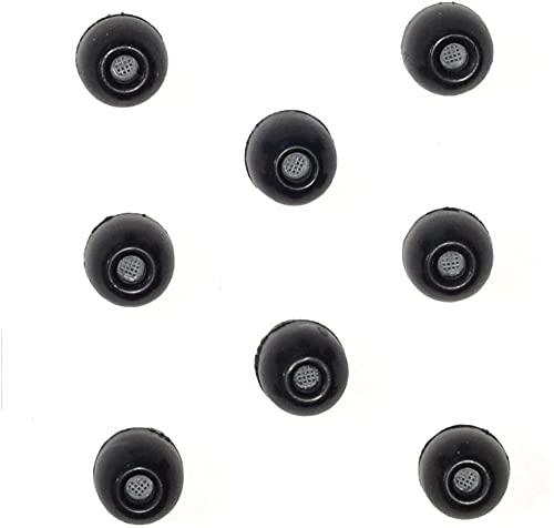 8 Pack - Medium SHURE EABKF1-10M (PA910M) Replacement Black Foam Ear Tips Sleeves fit SHURE SE215 SE315 SE425 SE535 SE846 SE112 SE115 SE210 SE530 E3c E4c E5c and Westone in-Ear Headphones Earphones