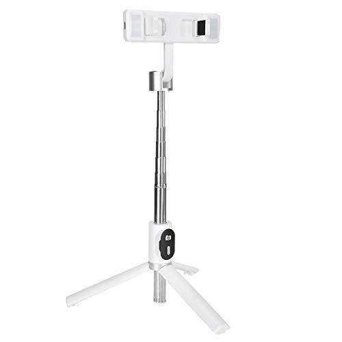 Jazar Trípode Selfie Stick con luz, trípode Todo en uno, trípode Plegable Selfie Stick, Duradero y Estable para Ver Videos Estudio en línea(White)