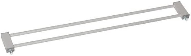 Deluxe Wood And Metal Une Extension par C/ôt/é Silver//Black sans Per/çage Compatible avec Barri/ère de S/écurit/é Squeeze Hauck Extension de 7 cm Trigger Lock Fixation /à Pression