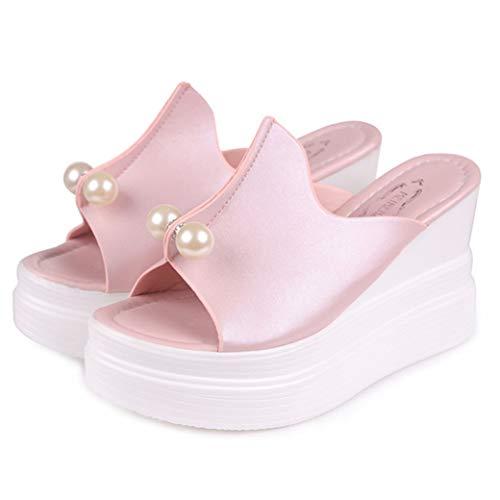 Sandalen met hoge hakken, voor dames, plateausandalen met wighak en casual schoenen met wighak voor dames.