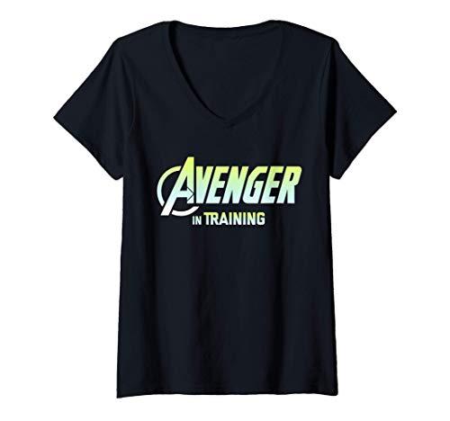 Donna Marvel Avenger IN TRAINING Members Only Maglietta con Collo a V