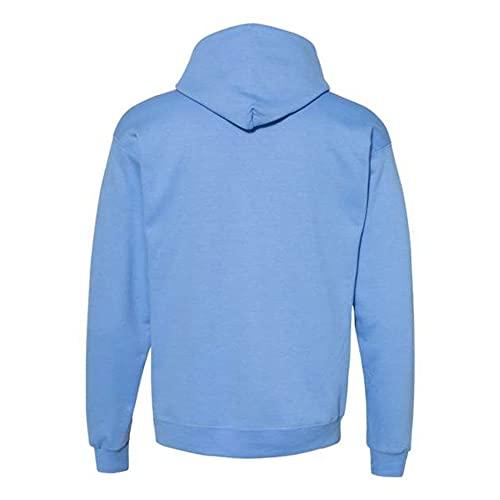 Hanes Men's Fleece Full Cut Athletic Hooded Pullover, Carolina Blue, X-Large