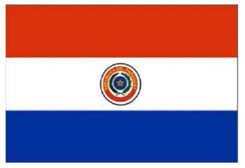 Diseño de la bandera Paraguay 152,4 cm x 91,44 cm