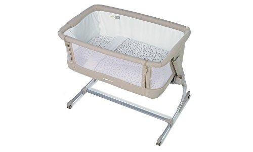 Jane BabySide 2018 T25 Granola - Cuna lateral para cama + colchón + almohada + edredón Baby Side