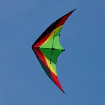 Lenkdrachen - Trickster Slide - für leichten bis mäßgien Wind - Abmessung: 170x80cm - inkl. Steuerleinen mit Gurtschlaufen