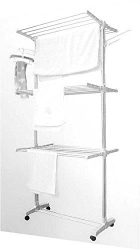 CTZ Tendedero plegable multifunción, aluminio, (178 cm)